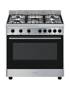 smeg-b90gvxi9-90cmnbspwide-stainless-steel-single-cavity-gas-range-cooker