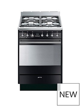 smeg-suk61mbl8-60cmnbspwide-concert-single-cavity-dual-fuel-cooker-gloss-black