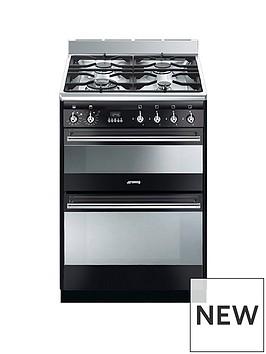 smeg-suk62mx8-60cmnbspwidenbspconcert-dual-cavity-dual-fuel-cooker-gloss-black