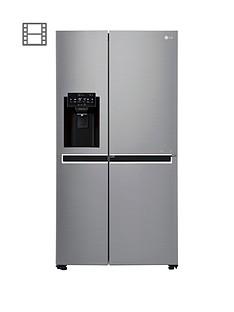 LG Door-In-DoorGSJ761PZXV American Style Fridge Freezer with Ice & Water Dispenser - Steel