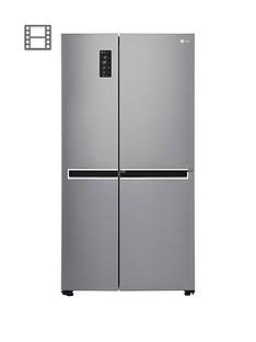 LG Door-In-Door™ GSM760PZXZ American Style Fridge Freezer - Steel