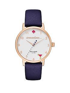 kate-spade-new-york-ksw1040nbspmetro-5-oclock-white-dial-navy-leather-strap-ladies-watch