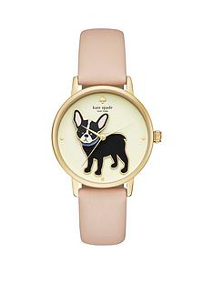 kate-spade-new-york-ksw1345-grand-metro-french-bulldog-dial-pink-leather-strap-ladies-watch
