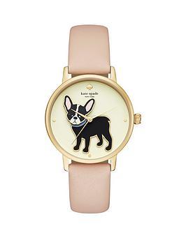 kate-spade-new-york-ksw1345-grand-metro-french-bulldog-dial-pink-leather-strap-ladies-watch