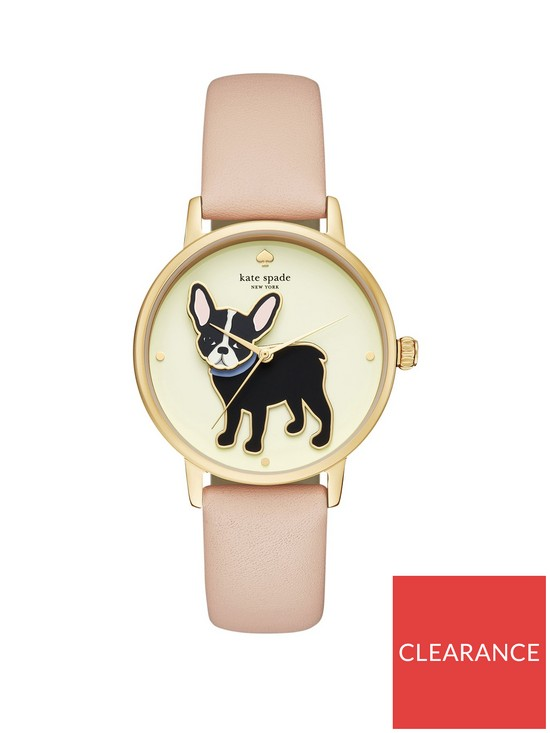 size 40 6b3e0 aaa71 KSW1345 Grand Metro French Bulldog Dial Pink Leather Strap Ladies Watch