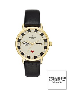 kate-spade-new-york-ksw1052nbspmetro-winking-face-dial-black-leather-strap-ladies-watch