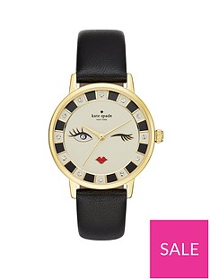 kate-spade-new-york-ksw1052nbspmetro-winking-face-dial-black-leather-strap-ladies-watch
