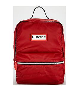 Hunter Kids Rubber Logo Backpack