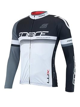 Force Luxe Long Sleeve Jersey - White/Black