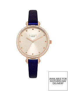 lipsy-lipsy-champagne-and-rose-gold-crystal-set-dial-blue-pu-strap-ladies-watch