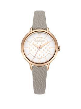 cath-kidston-matte-white-rose-gold-polka-dot-dial-grey-saffiano-leather-strap-ladies-watch