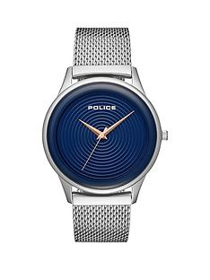 police-police-salerno-blue-and-rose-gold-detail-dial-stainless-steel-mesh-strap-mens-watch