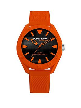 superdry-superdry-black-with-orange-detail-orange-silicone-strap-mens-watch