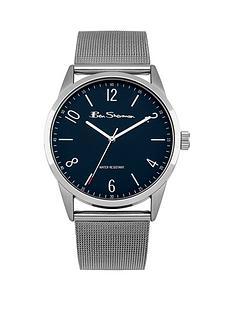 ben-sherman-ben-sherman-blue-dial-stainless-steel-mesh-strap-mens-watch