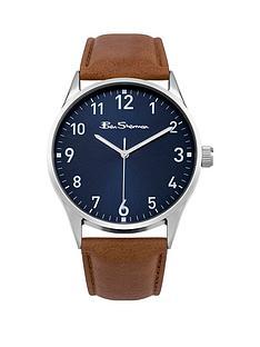 ben-sherman-blue-dial-brown-leather-strap-mens-watch