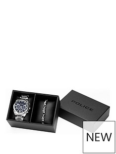 police-blue-chronograph-dial-stainless-steel-bracelet-mens-watch-and-stainless-steel-bracelet-gift-set