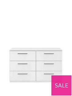 Westbury High Gloss 3 + 3 Drawer Chest