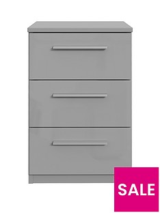 westbury-high-gloss-3-drawer-bedside-chest