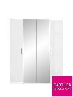 westburynbsphigh-gloss-4-door-mirrored-wardrobe