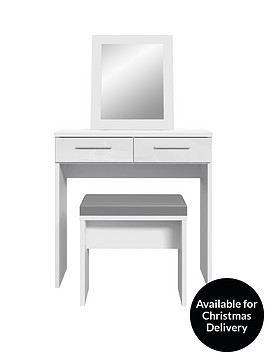 westbury-high-gloss-dressing-table-stool-and-mirror-set