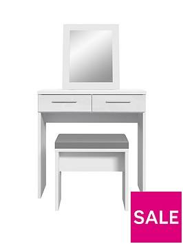 westbury-high-gloss-dressing-table-stool-and-mirror-set