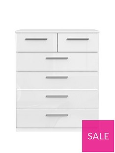 Westbury High Gloss 4 + 2 Drawer Chest