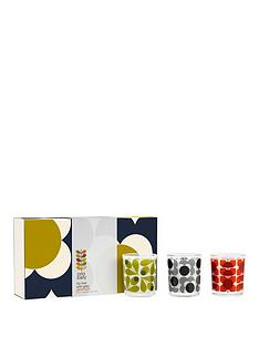 orla-kiely-olive-shadow-flower-candle-set