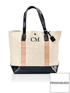 ha-designs-personalised-initial-canvas-blush-stripe-bag