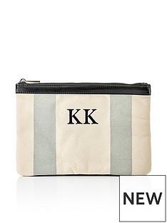 ha-designs-initial-canvas-clutch-bag-grey
