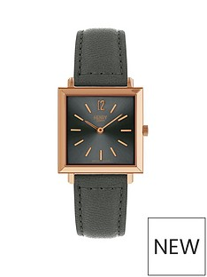 henry-london-gunmetal-grey-and-rose-gold-square-dial-leather-strap-ladies-watch
