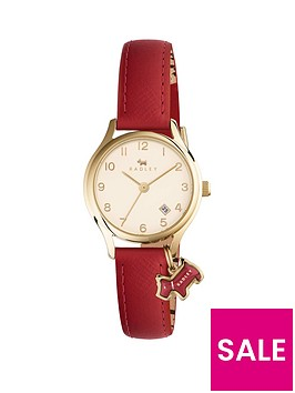 radley-radley-cream-and-gold-dial-with-red-dog-charm-red-leather-strap-ladies-watch