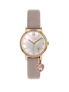 radley-radley-mother-of-pearl-and-rose-gold-heart-charm-dial-pink-leather-strap-ladies-watch
