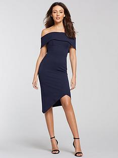 michelle-keegan-bardot-asymmetric-hem-bodycon-dress-navy