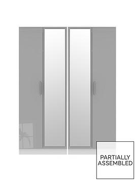 swift-montreal-part-assembled-4-door-tall-gloss-mirrored-wardrobe