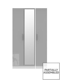 swift-montreal-part-assemblednbsp3-door-gloss-tall-mirrored-wardrobe