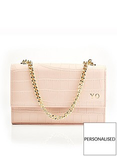 ha-designs-personalised-initial-blush-croc-chain-bag