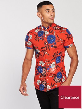 river-island-red-floral-print-short-sleeve-shirt