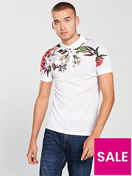 river-island-mesh-floral-polo