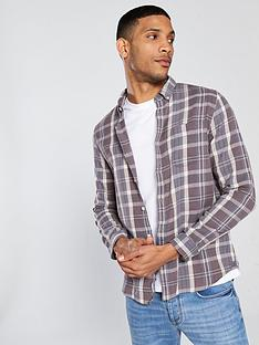 river-island-long-sleeved-brown-fade-check