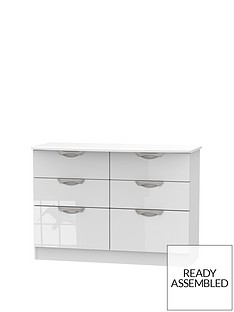 SWIFT Belgravia High Gloss 6 Drawer Chest
