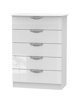 Swift Swift Belgravia High Gloss 5 Drawer Chest