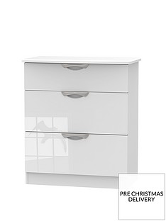SWIFT Belgravia High gloss 3 Drawer Deep Chest