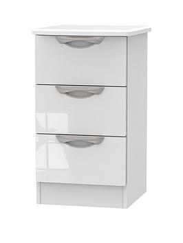 Swift Belgravia High Gloss 3 Drawer Bedside Chest