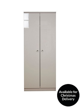 swift-lumiere-ready-assembled-high-gloss-2-door-wardrobe-with-lights
