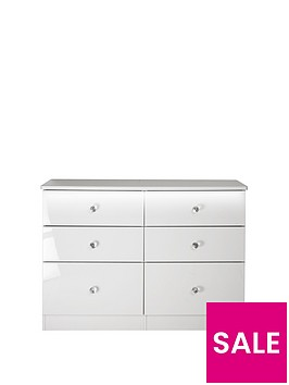 swift-lumiere-ready-assembled-high-gloss-6-drawer-midi-chest-with-lights