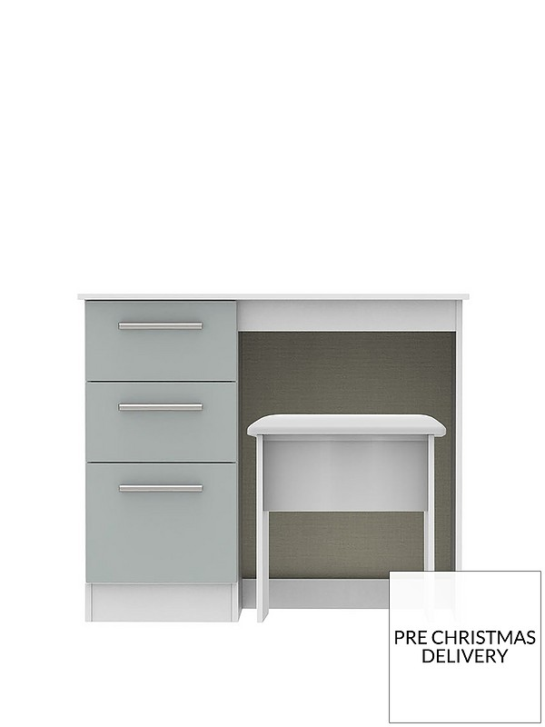 Wondrous Montreal Ready Assembled Gloss Vanity Desk And Stool Set Gmtry Best Dining Table And Chair Ideas Images Gmtryco