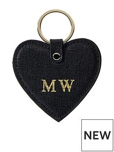 ha-designs-personalised-initial-black-keyring