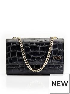 ha-designs-personalised-initial-blackgold-croc-chain-bag