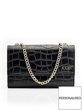 ha-designs-personalised-initial-blackgold-croc-chain-bag