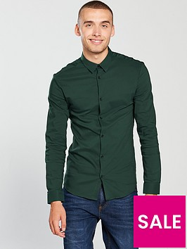 river-island-long-sleeved-emerald-muscle-poplin